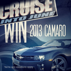 Win a 2013 Chevy Camaro at Indigo Sky Casino